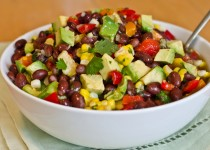 Black Bean, Corn, Red Pepper Salad with Garlic & Cilantro Corn Fiesta Seasoning