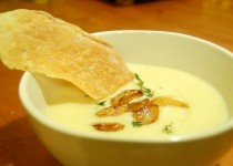 Roasted Garlic Soup w/ Fresh Peeled Garlic Cloves