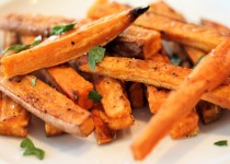 Salted Garlic Sweet Potato Fries – Roasted Garlic & Sea Salt