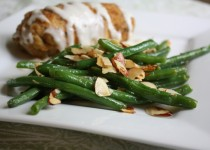 Smokey Green Beans Almondine