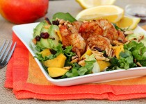 Garlic Mango and Shrimp Salad w/ Garlic & Mango Dressing