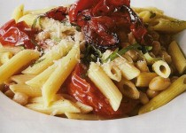 Seasoned Penne Pasta with Olive Tapenade with Garlic