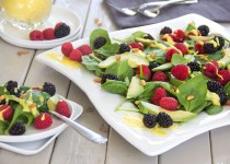 Tastes of Summer Salad w/ Garlic & Mango Dressing