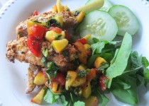 Smoked Salmon with Peach Salsa & Garlic – Peach Salsa with Ontario Garlic