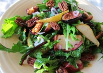Fig & Roasted Walnut Salad with Apple Cider & Garlic Vinaigrette