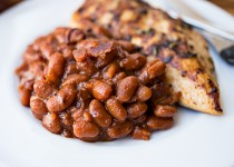 Smokey Garlic Maple Baked Beans with Bacon