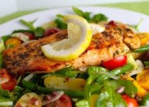Salmon Nicoise Salad with Olive Tapenade with Garlic Vinaigrette