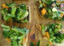 Spiced Sweet Potato & Roasted Broccoli Toasts