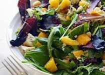 Bacon & Blue Cheese Citrus Salad w/Apple Cider & Garlic Vinaigrette