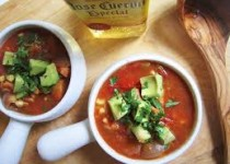 Chicken Tequila Soup w/ Chili-Lime Chicken Splash