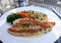 Almond Crusted Chicken Breasts with Garlicky Italian Seasoning