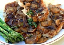 Roasted Pork Chops with Mushroom Sauce