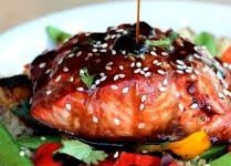 Salmon  with Maple Orange Teriyaki Sauce
