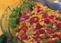 Smokey Garlic Bean, Rice & Corn Salad