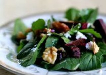 Beet Salad with Goat Cheese and Garlic