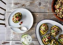 Grilled Avocado Halves w/Garlic & Cilantro Corn Fiesta Seasoning