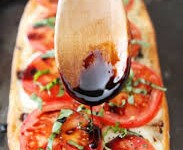 Black Garlic Balsamic Glaze Tomato Bruschetta