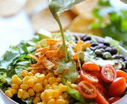 Southwestern Chopped Salad w/ Cilantro Lime Dressing