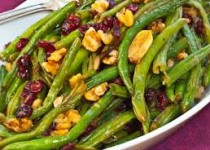 Roasted Green Beans w/ Cranberry Garlic Rum Preserve
