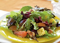 Mixed Citrus Green Salad w/Apple Cider & Garlic Vinaigrette