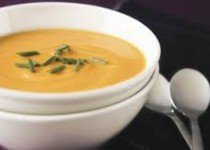 Roasted Sweet Potato & Garlic Soup