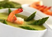 Asparagus & Shrimp Coconut Curry Soup