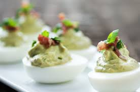 Garlic Pesto Deviled Eggs