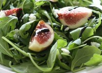 Fig and Arugula Salad with Garlic Balsamic Vinegar