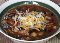 Louisiana Style Beans and Rice Chili Bowl