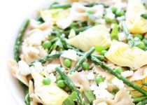 Spring Pasta Salad with Garlic Scapes