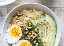 Garlic Scape Pesto Breakfast Bowl