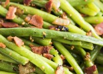 Maple Bacon & Garlic Green Beans