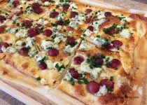 Grape and Blue Cheese Pizza