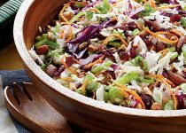 Garlicky Orange Cranberry Slaw