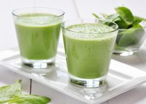 Avocado Cucumber Green Drink with Garlic