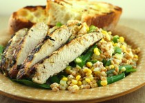Smokey Grilled Chicken and Corn Salad w/Garlic & Cilantro Corn Fiesta Seasoning