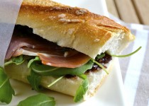 The Garlic Brick Sandwich w/ Balsamic Vinegar with Garlic – Olive Tapenade with Garlic