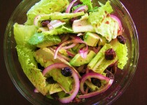 Peppery Lettuce Salad with Olive Tapenade Vinaigrette – Balsamic Vinegar with Garlic