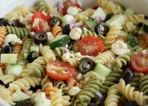 Greek Garlic & Dill Dressing Pasta Salad