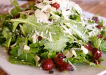 Wheat-Berry, Kale & Cranberry Salad with Smoked Garlic – Balsamic Vinegar with Garlic
