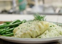 Sweet Dill Pickerel – On the Barbeque w/ Garlic & Dill Dressing