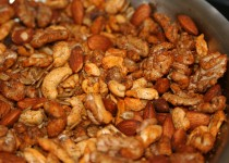 Spiced Nuts with Roasted Garlic Sea Salt & Balsamic Vinegar with Garlic