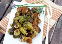 Sautéed Fresh Brussels Sprouts w/ Garlic Spice Rub