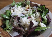 Apple Cider & Garlic Vinaigrette Salad with Celery Root & Apple