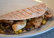Chili Lime Chicken & Black Bean Quesadilla – Chili-Lime Chicken Splash