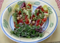 Vegetable Endive Boats in Apple Cider Garlic & Vinaigrette
