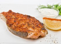 Herb –Broiled Fish with Garlic Greens Aioli