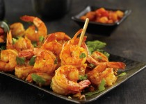 Spiced Shrimp with Peach & Garlic Salsa – Peach Salsa with Ontario Garlic