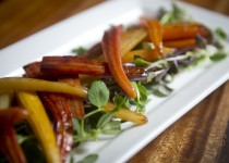 Honeyed Carrots with Spring Garlic Greens