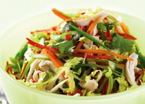 Asian Style salad with Apple Cider and Garlic Vinaigrette